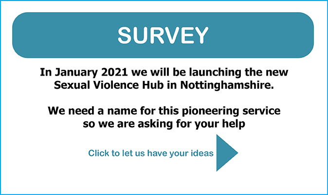 Name the new Sexual Violence Hub Survey click through image