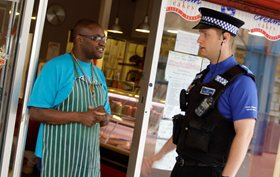 PCSO outside a local shop
