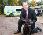 PCC Paddy Tipping and Police Dog Meg